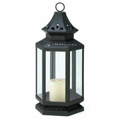 Black Lantern Candle Holder, Stagecoach Large Candle Lanterns Metal - Iron