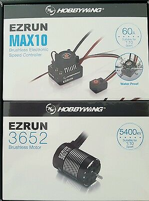 Hobbywing Max10 ,60 Amp Water Proof  Esc 5400Kv Motor Combo Genuine And Sealed