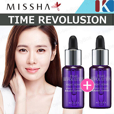 1+1 MISSHA Time Revolution Night Repair Borabit Ampoule 10ml / Korea Cosmetic