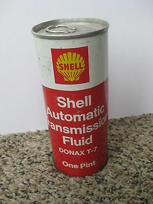 VINTAGE SHELL AUTOMATIC TRANSMISSION FLUID METAL CAN / 1 Pint / Full!!