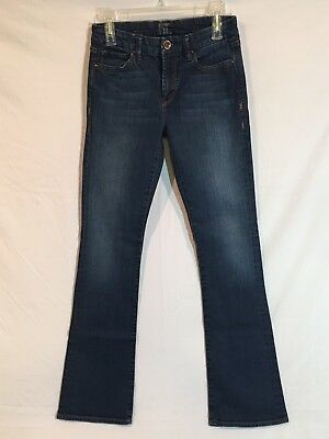 !it Jeans Women's 27 Straight Boot Dark Wash Distressed Jeans