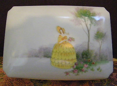 "Noritake ""M"" Handpainted Dresser, Candy, Cigarette, Box w/Lid  unusual mark"