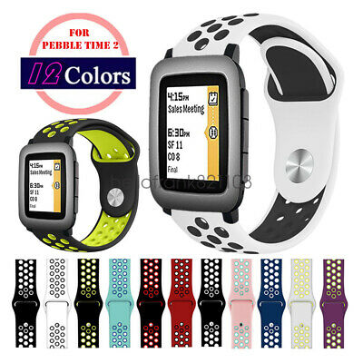 Replacement 22mm Soft Silicone Sport Bracelet Watch Band Strap For Pebble Time 2