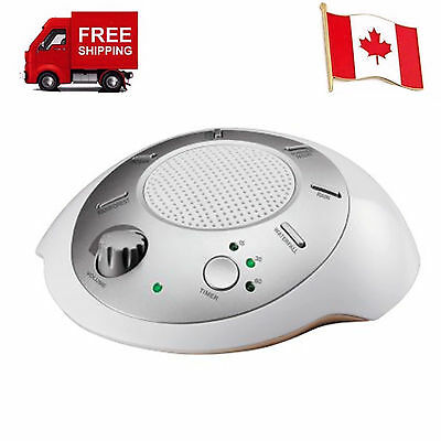 Sound Spa Relaxation Sound Machine with 6 Nature Sound Therapy, Silver New
