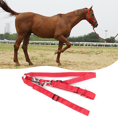 LED Horse Collar Breastplate Red Light Battery Operated Leader Strip Adjustable