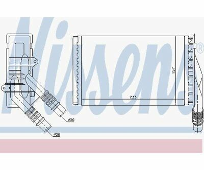 Nissens 72985 Heat Exchanger, Interior Heating