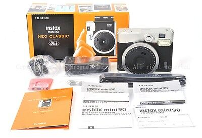 New Fujifilm Vintage Cool NEO Classic instax mini 90 Instant Camera Black