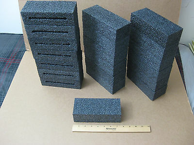 "Lot of 10 Blocks Black Polyethylene Foam_7-1/4"" x 3"" x 2-1/8"""