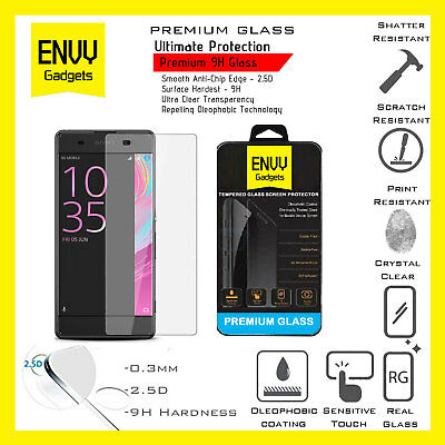 100% Genuine Ultra HD Tempered Glass Screen Protector For Sony Xperia XA - New