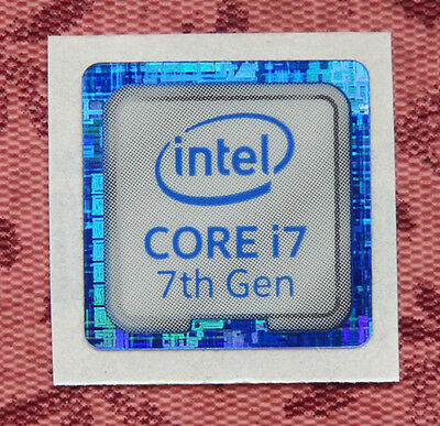 Intel Core i7 7th Generation Sticker 18 x 18mm Kaby Lake Case Badge