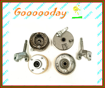 4 Stud Drum Brake Set Housing Wheel Hubs + Shoes Stub Axle Gokart Buggy dmk4x