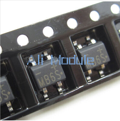50Pcs IC MB6S 0.5A 600V Miniature Mini SMD Bridge Rectifier AM