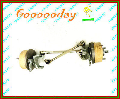 4 Stud Drum Brake Set + Stub Axle + Tie Rod For Gokart Buggy Project dmk4xb