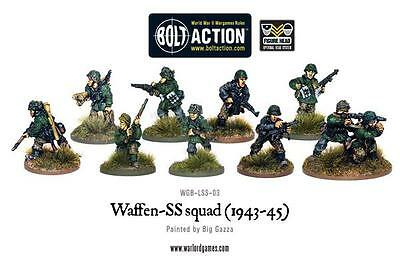 Warlord Games Bolt Action Waffen SS Late War Squad (1943-1945)