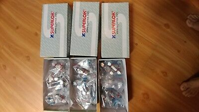Superlok Compression Tee Female Connector SS Tube fitting (30) LOT
