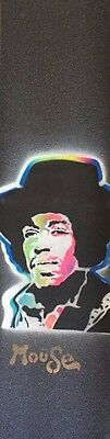 "Mouse Griptape Hand Sprayed 9""x33"" Purple Haze Jimi Hendrix"