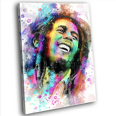 Bob Marley Abstract Canvas Print Framed Iconic Music Wall Art Picture