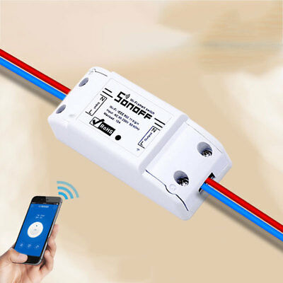 Sonoff WiFi Switch Automation Module Wireless For iOS Android 10A/2200W