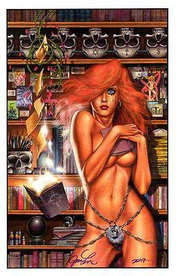 """JOSEPH LINSNER - CRY FOR DAWN #4 ART PRINT SDCC 2017 SIGNED 11""""x17"""""""