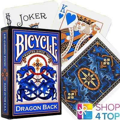 Bicycle Dragon Back Playing Cards Deck Oriental Design Blue Made In Usa New