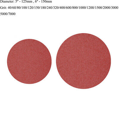 125mm 150mm Sanding Disc Hook And Loop Abrasive Sand Paper Pads 80 - 1000 Grit