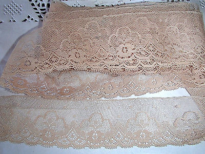 3.7 metres x 50mm pretty  beige lace trim
