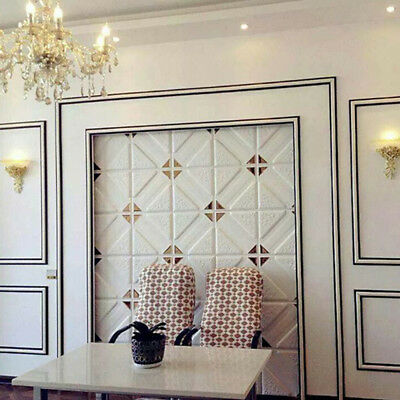 3D Wall Panels Adesive Faux Leather Wall Sticker Interior Decor TV Background