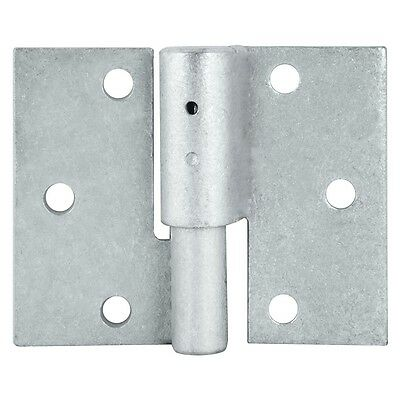 Pinnacle GALVANISED DOUBLE BUTT SECURITY GATE HINGE 16mm 2Pcs-Left Or Right Hand