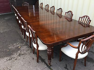 MAGNIFICENT 14.9ft GRAND VICTORIAN SOLID WALNUT TABLE, PRO HAND FRENCH POLISHED