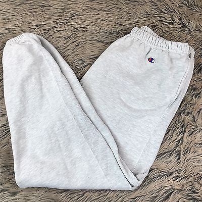 Vintage Champion Reverse Weave Sweatpants Grey XL cotton Blend Men's
