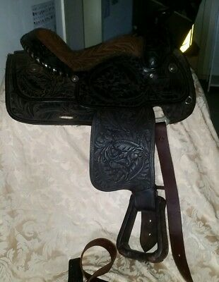 Western Roping saddle made in USA