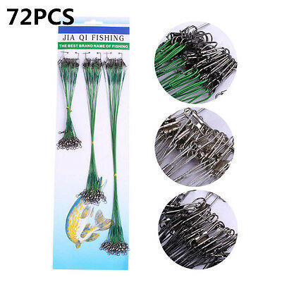 72 X 16/23/31cm Fishing Lures Leader Stainless Wire Trace Set Spinning Pike Line