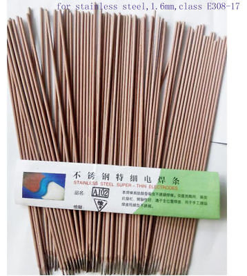 20x 1.6mm Arc Welding Rods Electrodes For Stainless Steel L= 250mm Class E308-17