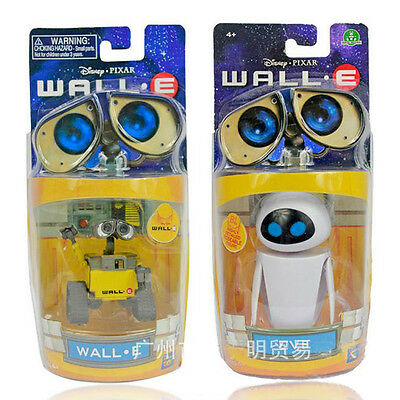 New in Box Set of 2 pcs Diseny Pixar Wall-E and Eee-Vah EVE Mini Action Figures
