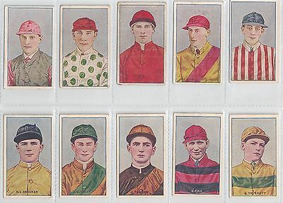 1920s Magpie cigarettes Jockeys numbered & unnumbered group of Ten cards