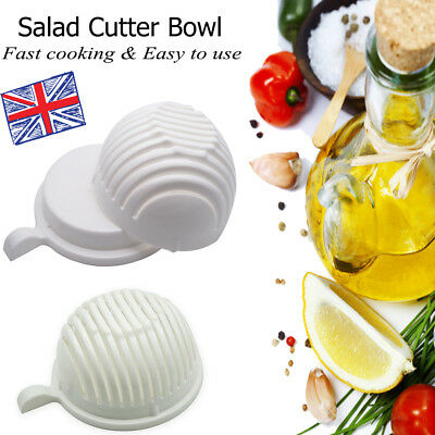 HOT 60 Second Made Slicer Tool Cutter Healthy Salad Maker Salads Easy Bowl UK
