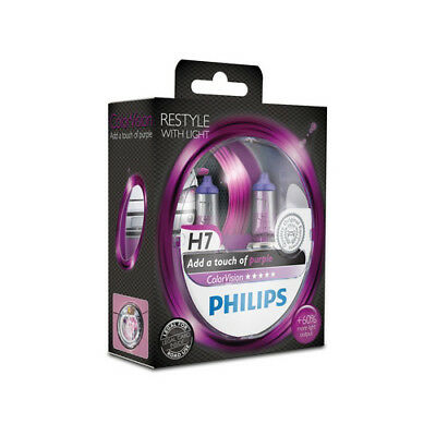 Philips H7 ColorVision Purple Pink +60% Set 2x H7 12V 55W 12972CVPPS2