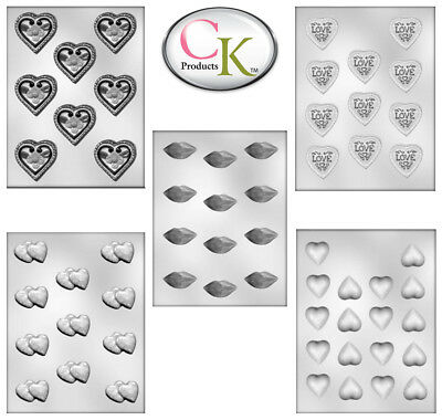 Chocolate Candy Making Mould Trays Love Heart Shapes St Valentines Day Designs
