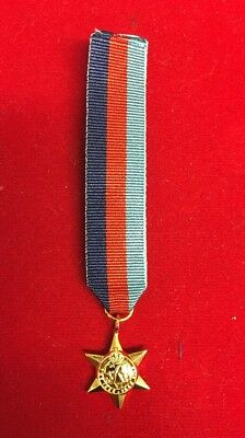 """Miniature Ww2 1939-1945  Star   Medal - Comes With 6"""" Of Ribbon Fast Dispatch"""