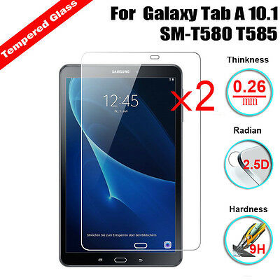2Pcs 2.5D 9H Tempered Glass Protector For Samsung Galaxy Tab A 10.1 SM-T580 T585