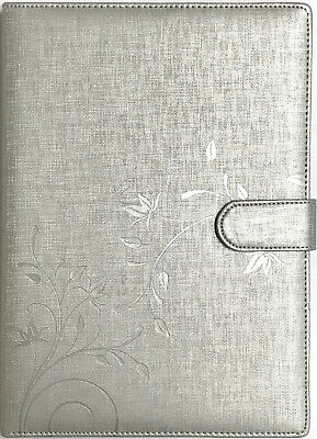 2018 A4 Carnegie Diary Day to A Page - Silver