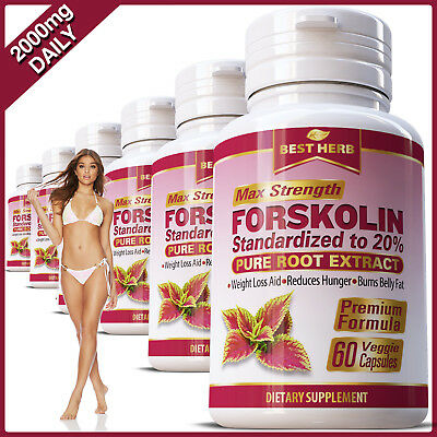 Forskolin Capsules Extract Fat Burner Weight Loss Diet Coleus Forskohlii Pills