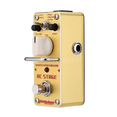 AROMA AC Stage Acoustic Guitar Simulator Mini Electric Guitar Effect Pedal N6D8
