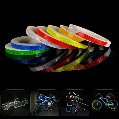 Reflective Bike Stickers Hi Vis Viz Safety Bicycle Cycling DIY Reflector Tape 8M