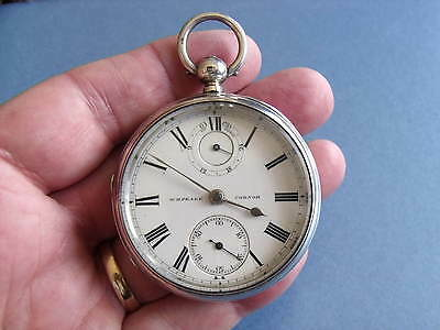 Rare Silver Fusee Up / Down Dial Pocket Watch 'wh Peake, Codnor' 1881 - Gwo