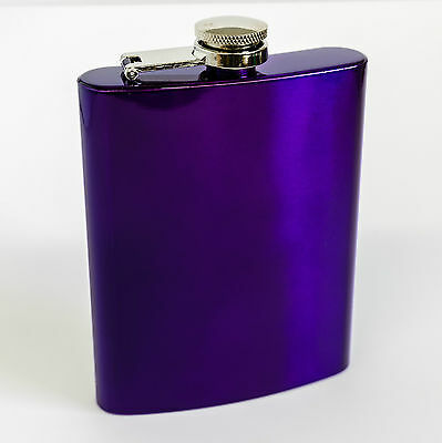 Purple Hip Flask / Hip Flask Gift Boxed