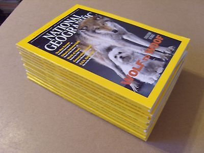 NATIONAL GEOGRAPHIC MAGAZINES 12 Issues from 2002 (Jan to Dec) + ALL SUPPLEMENTS