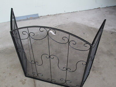 Fireplace screen ornate solid new
