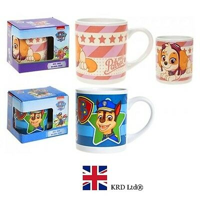 Kids PAW PATROL STONEWARE MUG Child Mugs Cup Toy Birthday Christmas Gift Box UK