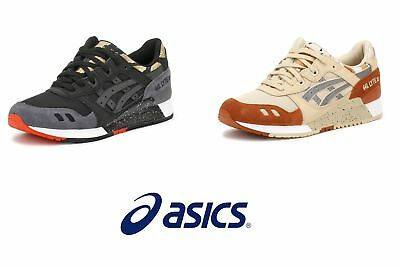ASICS Mens Black or Brown Gel-Lyte III Trainers, Retro Sports Running Shoes
